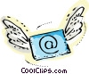 E-mail flying Vector Clipart picture