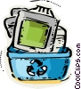 Vector Clip Art image  of a Obsolete Equipment
