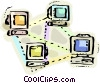 Vector Clip Art image  of a Intranets