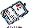Vector Clipart illustration  of a Organizer Daytimer