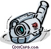 Vector Clipart graphic  of a Video Cameras