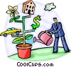 Vector Clipart graphic  of a Growth