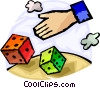 Vector Clipart picture  of a Dice