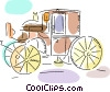 Horse drawn carriage Vector Clip Art graphic