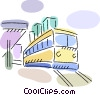 Streetcars Trams and Trolleys Vector Clip Art image