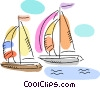 Vector Clip Art picture  of a Sailboats