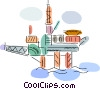 Offshore Drilling Platform Vector Clip Art picture