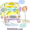 School Bus Vector Clipart illustration