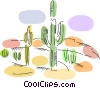 Cactus in the desert Vector Clipart graphic