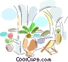 Vector Clip Art picture  of a Beach Scenes