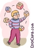 Vector Clipart image  of a Students