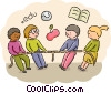 Vector Clip Art picture  of a Students
