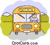 Vector Clipart image  of a School Buses