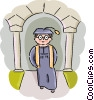 Graduate student Vector Clipart picture