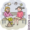 Vector Clipart illustration  of a Students