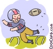 Football player running for a pass Vector Clipart image