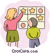 Teacher and student Vector Clipart graphic