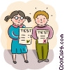 Students with test results Vector Clipart picture