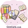CD-ROM Media and books Vector Clipart picture