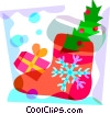 Christmas stocking Vector Clip Art graphic