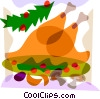 Turkey dinner Vector Clipart picture