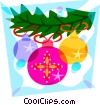 Vector Clip Art graphic  of a Christmas decorations