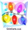 Christmas lights Vector Clipart picture