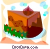 Christmas cake Vector Clipart illustration