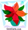 Vector Clip Art graphic  of a Poinsettia