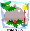 Christmas dinner Vector Clipart picture