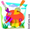 Painting Easter eggs Vector Clipart graphic