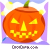 Vector Clipart graphic  of a Jack-o-lantern