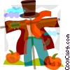 Vector Clipart illustration  of a Scarecrow