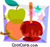 Candy apples Vector Clip Art graphic