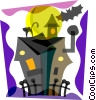 Vector Clip Art picture  of a Haunted Houses