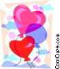 Valentine's day heart balloons Vector Clipart picture