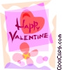Vector Clipart image  of a Valentine Cards