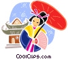 Vector Clipart picture  of a Japan