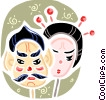 Vector Clipart illustration  of a Japan