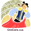 Spanish Matador Vector Clip Art picture