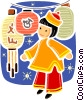 Vector Clip Art picture  of a Japan