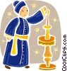 Vector Clip Art image  of a Priests and Ministers
