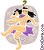 India God dancing Vector Clip Art picture