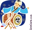 Vector Clipart image  of a Japan