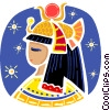 Vector Clip Art picture  of a Egyptian People