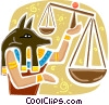Vector Clip Art image  of a Egyptian People