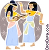 Vector Clipart graphic  of a Egyptian People