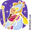 Egyptian Queen in traditional dress Vector Clip Art picture