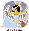 Vector Clip Art graphic  of a Egyptian People