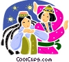 Ethnic Dance Vector Clipart illustration